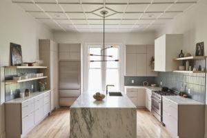 banner meja dapur granit