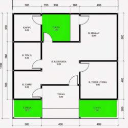 banner denah rumah 6x9 2 kamar tidur